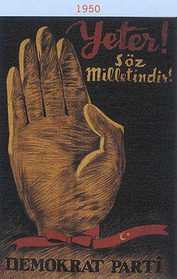 1950 Demokrat Parti Afiş
